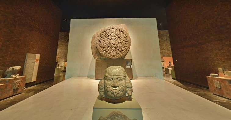 pedra do sol visita virtual ao museu nacional de antropologia no mexico